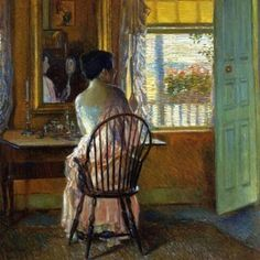 Morning Light Painting by Frederick Childe Hassam Reproduction Claude Monet, American Impressionism, Impressionist Artists, Oil Painting Reproductions, Morning Light, Art Themes, Light Painting, Illustrations, American Artists
