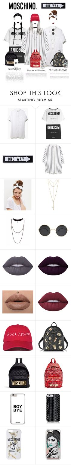 """""""Gone Bad"""" by mickie-pcosta ❤ liked on Polyvore featuring rag & bone, Moschino, MANGO, New Look, House of Harlow 1960, Lime Crime, Love Moschino, Savannah Hayes and Casetify"""
