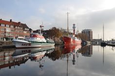 "Emden, Binnenhafen,  ""FD Ostfriesland"" an die Nordsee North Sea, Highlights, Pictures, Travel, Europe, Lower Saxony, Environment, Travel Advice, Photos"