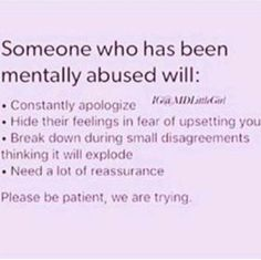 """Sometimes you don't even realize the abuse till you read a description of yourself and think """".this isn't normal?"""" Mental abuse and emotional abuse Under Your Spell, My Demons, Psychology Facts, Psychology Major, Narcissistic Abuse, Emotional Abuse, Trauma, True Quotes, Ptsd Quotes"""