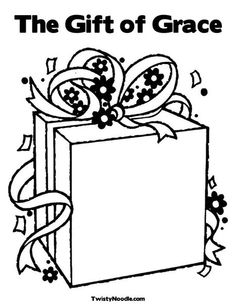 The Gift of Grace Coloring Page