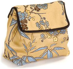 Make a Pleated Pouch Bag -- this would be a cute lunchsack if you used oilcloth or something. :)