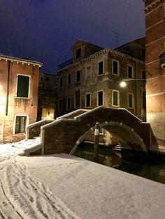 Mercoledì 28 febbraio 2018, la Neve a Venezia