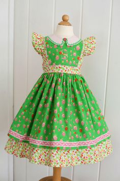 PDF Girls Dress Pattern: Georgia Vintage Dress Pattern Size   Etsy Little Girl Dresses, Girls Dresses, Summer Dresses, Little Girl Dress Patterns, Robes Vintage, Vintage Dresses, Georgia, Vintage Dress Patterns, Layered Skirt