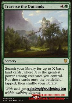 Traverse the Outlands.full C17 - Commander 2017 magic the gathering mtg proxy cards from $0.37 all cards available customize