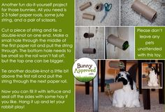 DIY Rabbit Toy Ideas - Bunny Approved - House Rabbit Toys, Snacks, and Accessories Rabbit Life, Rabbit Run, House Rabbit, Rabbit Toys, Bunny Rabbit, Diy Bunny Toys, Bunny Care, Rabbit Hutches, Diy Stuffed Animals