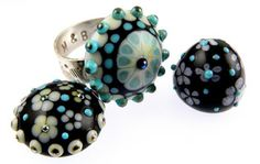 Ring Topper Lampwork bead tutorial by Beverley Hicklin