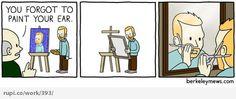 self potrait - Rupi - Social Comic Strip @rupidotco
