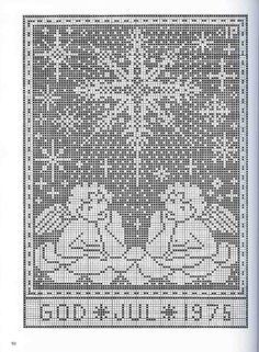Gallery.ru / Фото #41 - рождество - EditRR Russian Cross Stitch, Xmas Cross Stitch, Cross Stitch Borders, Cross Stitch Alphabet, Cross Stitch Designs, Cross Stitching, Cross Stitch Embroidery, Cross Stitch Patterns, Filet Crochet