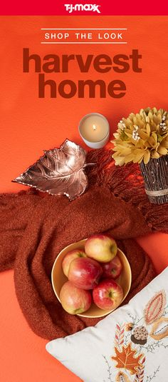 Create a space that's warm, inviting, and so ready for fall. Curl up in a cozy blanket, light a pumpkin spice candle, and decorate your harvest home with autumn-inspired décor. Explore the Harvest Home shop and save all season long at tjmaxx.com.