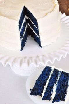 Blue Velvet Cake Recipe (That is so sweet.)