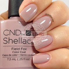 CND Shellac Field Fox - swatch by Chickettes.com. CND Shellac is available at www.esthersnc.com