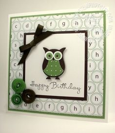 stampin up owl by lucia
