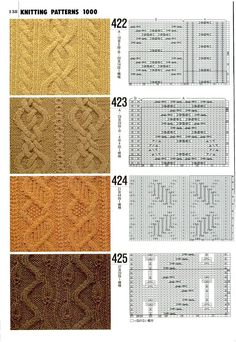 Knit stitches, love charts
