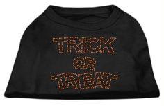 Trick or Treat Rhinestone Shirts Black XL (16)