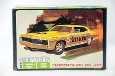 Vintage Models, Old Models, Vintage Cars, Chevy Ss, Chevrolet Ss, Model Cars Kits, Kit Cars, Chevy Models, Monogram Models
