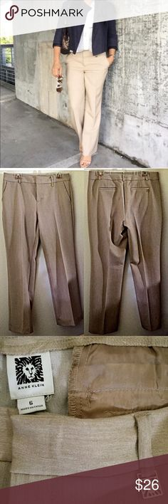 Women's beige dress pants, Anne Klein, sz 6, NICE! Women's beige dress pants, Anne Klein, sz 6, NICE! Selling work clothes due to a career change.  These were worn 2-3 times. Excellent condition! Anne Klein Pants Trousers