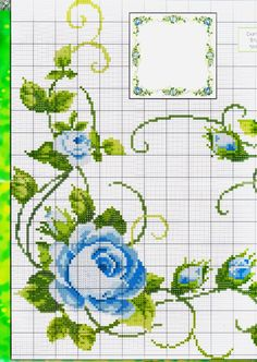 This Pin was discovered by Viš Butterfly Cross Stitch, Cross Stitch Rose, Cross Stitch Borders, Cross Stitch Flowers, Cross Stitching, Cross Stitch Embroidery, Hand Embroidery, Cross Stitch Patterns, Rico Design