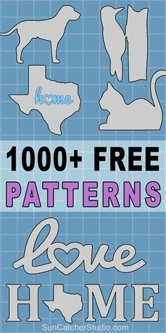 Free patterns and stencils to print or download including SVG vector designs - for DIY woodworking projects, Silhouette and Cricut laser cutting....