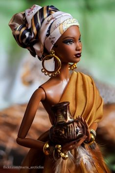 African beauty, number two Another African Beauty, by Marie Arctic Fox African Dolls, African American Dolls, American Art, African Beauty, African Fashion, Barbie Style, Diva Dolls, Dolls Dolls, Yoruba