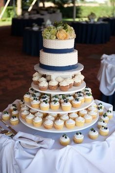 The best cupcake wedding cakes that come with different decorations and in various colors and tier numbers to choose your best.