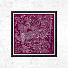 COLORADO Springs CITY MAP Print Line Art City Map Road Map Colorado Minimalist City Map Wall Art Modern Design City Grid Poster Ribba
