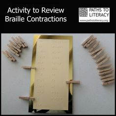Activity to Review Braille Contractions