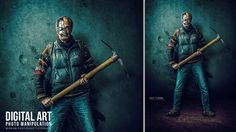 "In this tutorial I will show you how to create a photo manipulation effect of ""The Last Cyborg"" in Adobe Photoshop CC 2017"