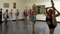Jazz work for flexibility in Modern. Across The Floor at V and T Dance