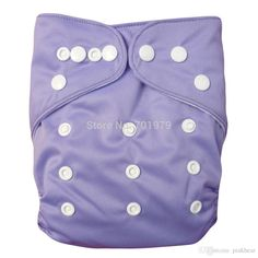 B14 Alva Baby. One Size Pocket Diaper. Snaps. $4.79 (Purple)