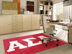 Buy a licensed ASA Greek Sorority Logo Rug. Show your Alpha Sigma Alpha Pride. Rug Rats is a trusted name in custom rugs. Free Samples. Free Shipping.