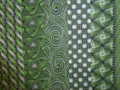 Black and Green Shweshwe. Worldwide shipping available from http://www.meerkatshweshwe.com/