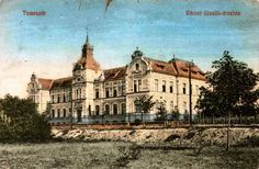 Timisoara - 1919 - Orfelinatul Gisella Vintage Photographs, Old Town, Romania, Notre Dame, Mansions, House Styles, Building, Fabric, Pictures
