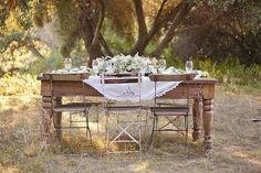 Table in a field.