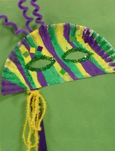 Taylor1474's art on Artsonia Mardi Gras mask craft for kids