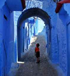 "lensblr-network:  ""Blue Streets"" Chefchaouen - Morocco by James Smorthwaite  (myworldview-photography.tumblr.com)  favela of dreams,  road"