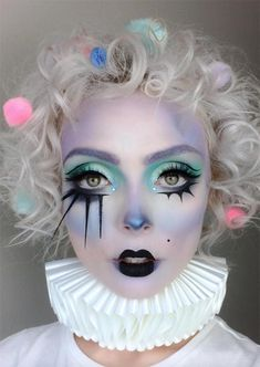 Halloween_makeup_ideas_pastel_clown_makeup_for_Halloween25.jpg (500×705)