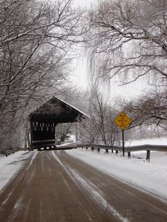Covered Bridge in South Barrington, IL Old Bridges, Old Barns, Covered Bridges, Belleza Natural, Winter Scenes, State Parks, Country Roads, Country Life, Country Barns