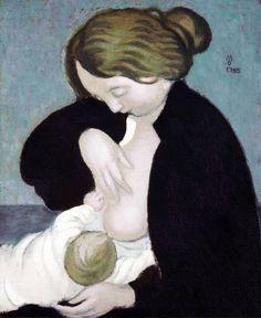 La mère au corsage noir Denis Maurice, 1895 Huile sur toile, environ 47 x 39 cm Collection privée