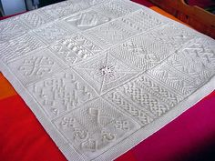 The Great American Aran Afghan by Knitters...can't wait to tackle this project with my knitting group at the Yarn Barn this month...it will take a year to make...one square a month.