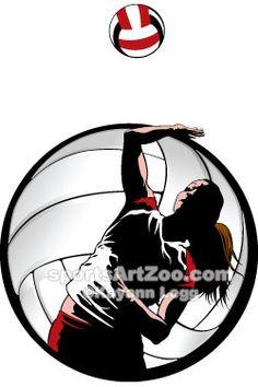 Sports Art Zoo - Indoor-Volleyball-Closeup #volleyball #sportsartzoo