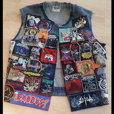 Dario from Germany #battlejacket #metalpatches #metaljacket #kutte #bandpatch #bandpatches #battlevest #testament #heavymetal #thrashmetal #denimjacket #patchedjacket #patchedvest #metal #deathmetal
