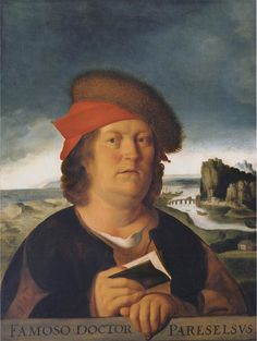 Quentin Metsys, Portrait presumed to be of Paracelsus, 1496-1530, oil on wood, 72 x 54 cm., Musée du Louvre, Paris.