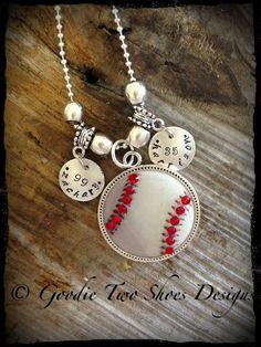 Rhinestone Baseball Mom Necklace, Baseball, Baseball Mom, Mommy Brag Jewelry via Etsy