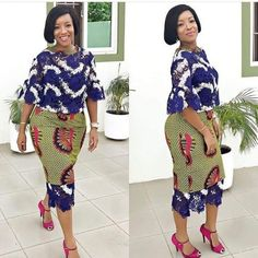 Check Out this Beautiful Ankara Styles with Lace - DeZango Fashion Zone