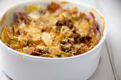 Rezept für Steamer und Dampfgarer: Teigwaren-Auflauf. Pasta Casserole, Steamer, Chili, Soup, Recipes, Super Simple, Drinks, Blog, Cooking Recipes