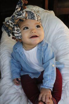 Bow   headwrap   baby girl fashion