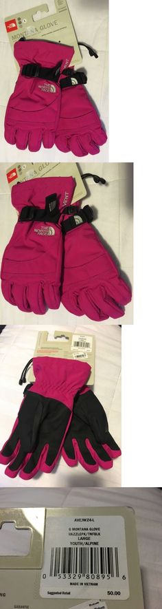 SALE THE NORTH FACE BOY/'S MONTANA MITTS TNF RED LARGE NWT LIST $50