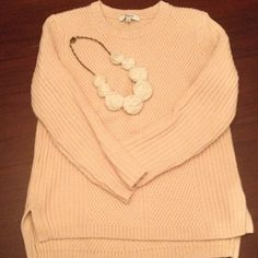 Madewell sweater XS Lovely pink sweater, size XS. Perfect condition. Non smoking home. Madewell Sweaters Crew & Scoop Necks