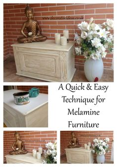 A Quick and Easy Technique for giving Melamine Furniture an 'Antique Style' finish
